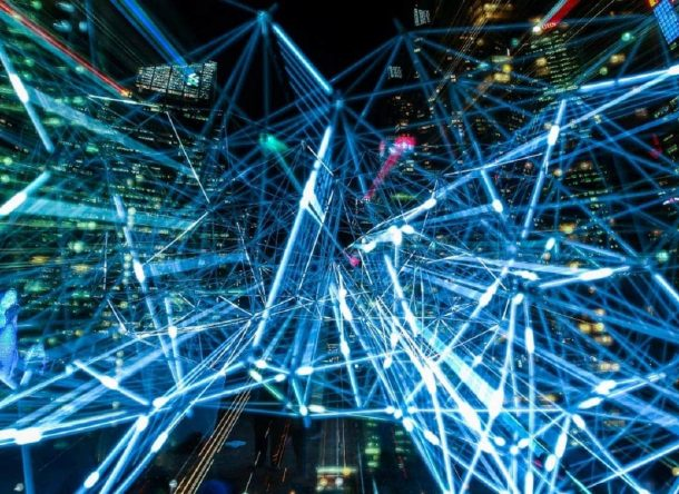 A virtual simulation of data exchange in a city