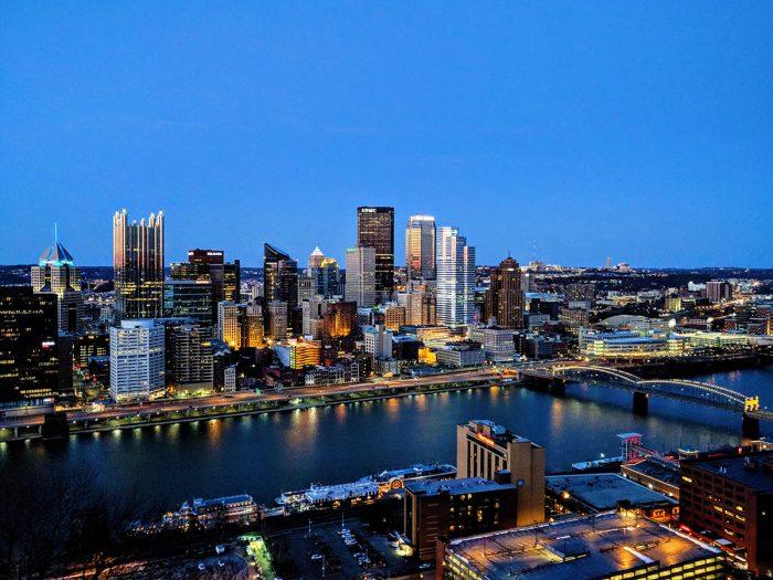 Vista aerea de la ciudad de Pittsburgh