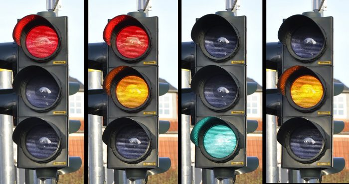 Image of 4 traffic lights