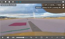 Vista de aeropuerto por GPS