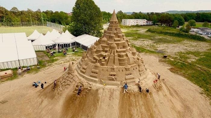 The world's largest sandcastle