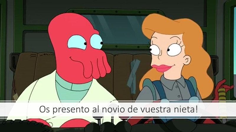 Imagen de la serie de dibujos Futurama