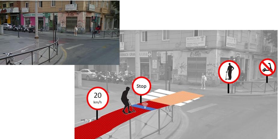 Asfalto con codificación magnética para transmitir señales a los patinetes eléctricos de las ciudades